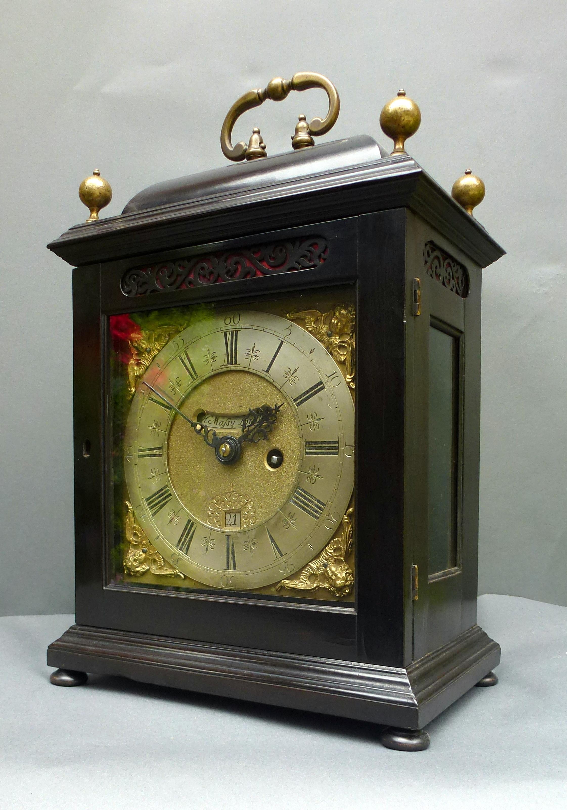Seventeenth Century Bracket Clock By Henry Massey